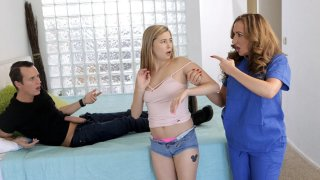 Wild shagging scene with a Teen-MILF combo Preview Image