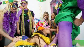 Cosplay College Orgy at Party Preview Image