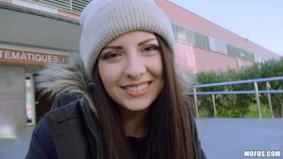 Italian Cutie Rides Dick At School Preview Image