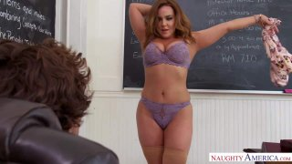 Prof. Natasha Nice Shines Her Big Tits on Sheltered Student Preview Image