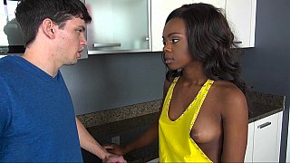 Black chick loves the taste_of his white cock Preview Image