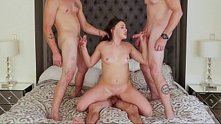 Hot foursome with_a_slutty young babe Preview Image