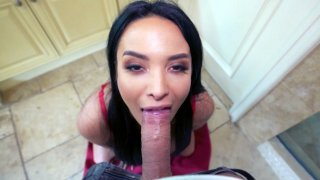 Anissa Kate sucks cock and licks balls in POV Preview Image