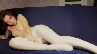 Pantyhose Nylon Shiny Glossy Legs Solo Girl Preview Image