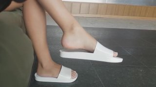 Candid Feet - Melissa Beach Slide (White) Preview Image