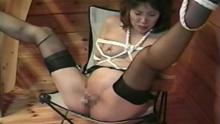 Sexy Asian pussy pleasures while hogtied Preview Image