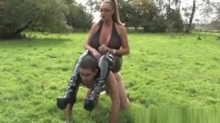 Mistress Humiliating Pathetic Sub Outdoors Preview Image