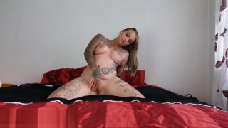 My Dirty Hobby - Busty tattooed chick gets oiled and dirty Preview Image