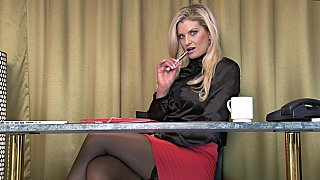 Blonde office lady Preview Image