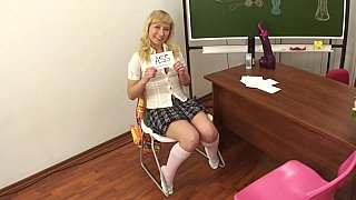 Anal dildo POV in the class Preview Image