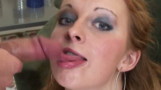 Cutie blondie gets double_penetration on her face Preview Image