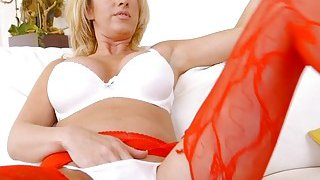 Big tits blonde Milf bangs voyeur guy Preview Image
