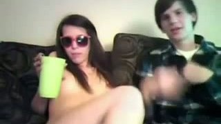 Drunk and slutty chick has position 69 on webcam Preview Image