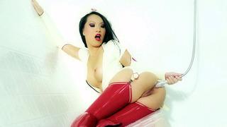 Asa_Akira_wearing_nurse_outfit_having_an_anal_douche Preview Image