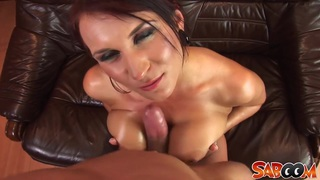 Czech girl with big natural tits gets fucked on a sofa Preview Image