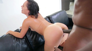 Kristina Rose endures an interracial anal doggie-style sodomy Preview Image