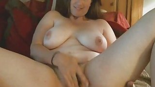Chubby Brunette Cougar Enjoys Toying Hairy_Pussy Preview Image