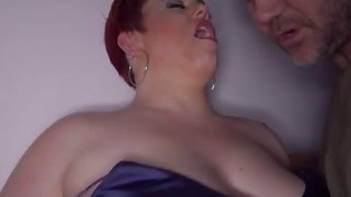 Dark room sex_action with fat horny Milf Amor Preview Image
