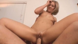 Titless whore Stephanie Richards rides a cock ardently and madly Preview Image