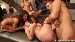 Sex pack of Brandi Love, Lexi Belle, Madison Ivy and Veronica Avluv go wild and crazy Preview Image