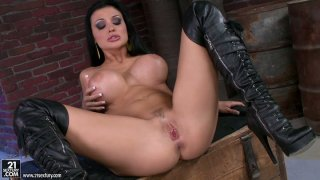 Legendary model Aletta Ocean bangs herself with a plastic stick Preview Image