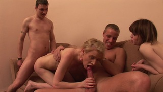 Alma & Inga E & Daisy & Gia & Octavia in college sex scene with a chick enjoying dp Preview Image