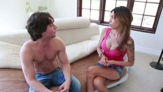 Rubbish slut Kiera King is giving a great blowjob Preview Image