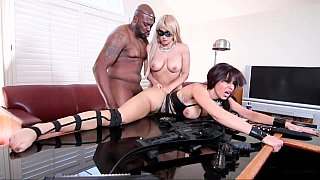 Virginal beauty and a MILF in an interracial 3some Preview Image