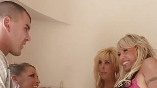 3 Frisky Blonde MILFs Suck Fuck And Swap Cum! Preview Image
