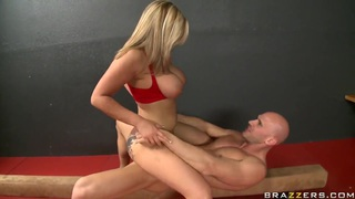 Passionate hot blonde girl Dayna Vendetta is_standing on her_knees and pleasing Johnny Sins with blow and tit jobs. Preview Image