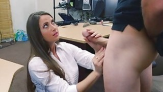 She was on her knees trying to get him cum Preview Image