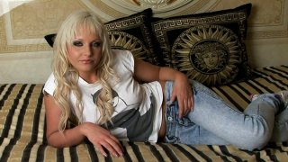 Blonde milf whore Alexandra Cat fantasizes about wild masturbation session Preview Image