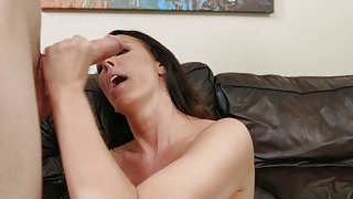 Huge boobs Milf deep throats young cock Preview Image