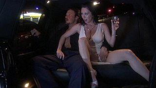 FFM threesome in a limo Preview Image