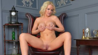 Gorgeous milf toys her creamy pussy Preview Image