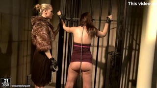 Kathia Nobili in furry jacket torturing a hot babe Preview Image