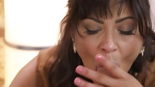 Tanned brunette mom fucking young cock Preview Image