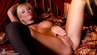 Hot babes Tasha Reign and Sandy getting horny and naughty on the bed Preview Image