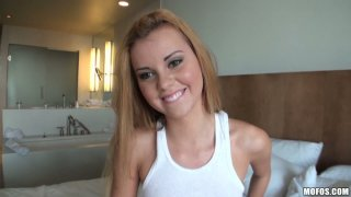 POV video of thick ass_busty bbw blonde Jessie Rogers fucked anal. Preview Image