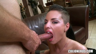 Exciting tattooed bombshell Christy Mack fucks with lucky boy Preview Image