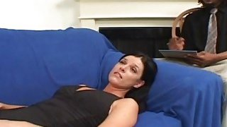 A horny black therapist fucks hot white MILF's pussy as hard as he can Preview Image