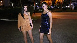 Wild girls flashing_in_a limo Preview Image