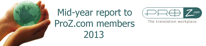 Mid-year report to ProZ.com members, 2013