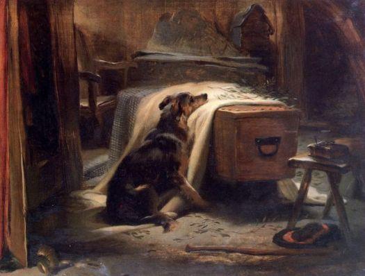 dog canine emotion grief mourn death human animal bond Landseer