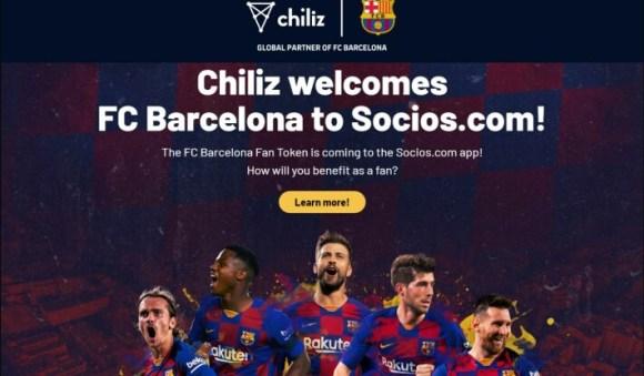 FC Barcelona & Chiliz partnership - Digital Asset $BAR