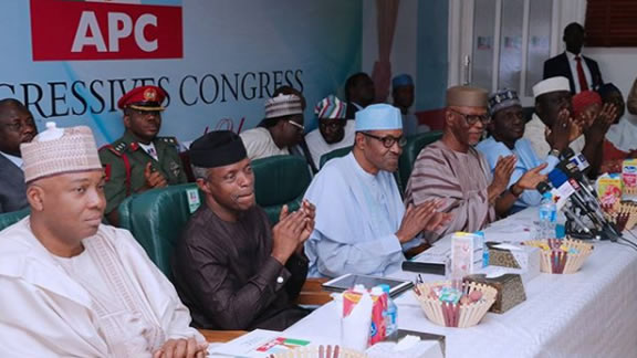 Image result for BREAKING: President Muhammadu Buhari officially announces his intention to seek re-election in 2019, he said this during the NEC meeting of the all progressives congress.