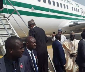 Image result for Buhari embarks on four-day medical trip to UK