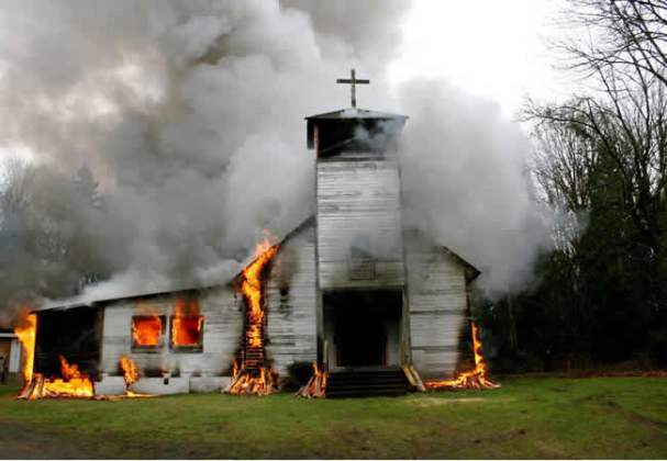 Image result for Church set ablaze in Kaduna