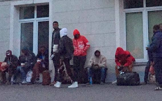 Image result for PHOTOS: Stranded and cash-strapped Nigerian World Cup fans beg embassy for return tickets