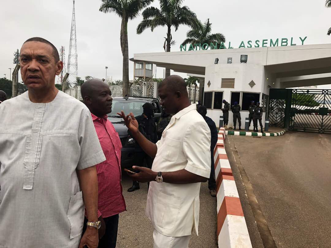 Image result for Breaking: Senators, Reps force their way into National Assembly